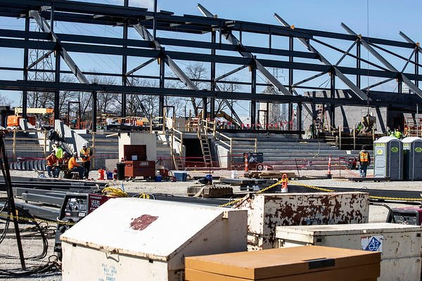 Louisville City FC unveiled progress at their new stadium on Friday afternoon as placement of the structural steel commenced at the Butchertown construction site. 3/22/19