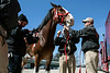 Cash the Budweiser Clydesdale is filmed up close by a commercial production crew at Churchill Downs on Monday. 4/1/19