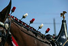 Roses were woven into the manes of the Budweiser Clydesdales in town on Monday to film a commercial at Churchill Downs. 4/1/19