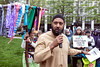 Kumar Rashad spoke at the thirteenth Station of the Cross in Founders Square Park during the Way of the Cross: A Walk for Justice on Friday. 4/19/19
