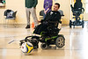 Caleb Lammert moves the ball with ease during a Louisville City Power Soccer practice. 4/20/19