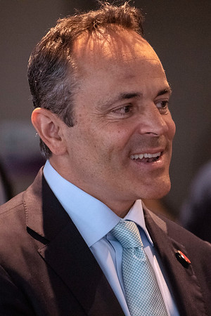 Kentucky governor Matt Bevin spoke to members of the Rotary Club of Louisville on Thursday afternoon at the Muhammad Ali Center. 4/25/19