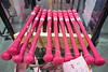 Louisville Slugger Factory prepared to ship pink bats to Major League Baseball players on Friday for use on Mother's Day. 4/26/19