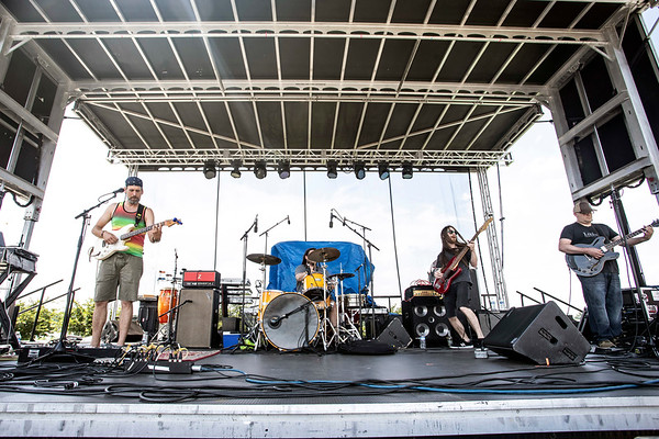 The band PMA opened the Kentucky Reggae Festival at the Louisville Water Tower on Saturday as crowds flowed in for the good times and relaxed music. 5/25/19