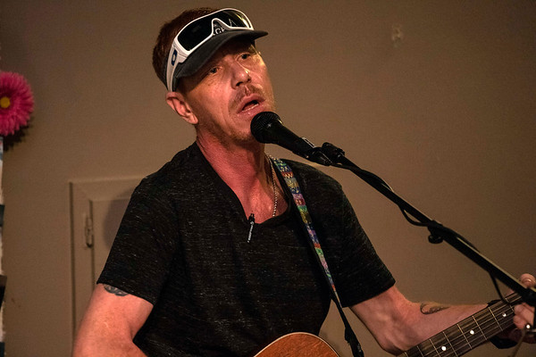 """Kurt Barr participated in the open mic at The Urban Goatwalker Coffee House on Saturday admitting later that he had """"stage addiction."""" 6/8/19"""