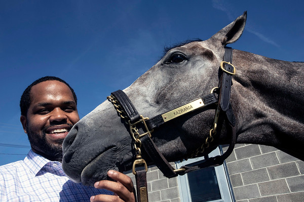 Trainer Mark Simms, Jr recently won his first race at Churchill Downs with a horse named Kaziranga. 6/14/19