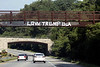New Trump related graffiti has appeared along the eastbound lane of Interstate 64 on the Pee Wee Reese Road overpass. 7/7/19
