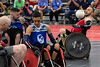 Jesse Graham looks for an open man during a quad rugby exhibition match at the National Veterans Wheelchair Games. 7/11/19