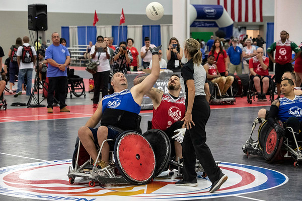 A quad rugby exhibition match kicked off the annual National Veterans Wheelchair Games at the Kentucky International Convention Center on Thursday morning. The weekend long event will host over 600 veterans and is co-presented between the Department of Veterans Affairs and Paralyzed Veterans of America. 7/11/19
