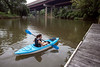 Ali Miller enjoys a kayak ride on Harrods Creek near the Nachand Canoe & Kayak Rental in Prospect. 7/18/19
