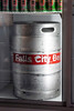 A keg sits at the ready in a cooler at The Fall City Brewing Company Taproom & Beer Garden. 7/19/19