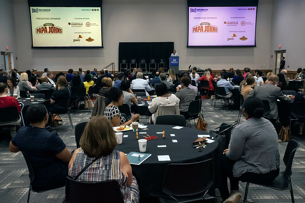 "Greater Louisville Inc. hosted a panel of Papa John's Pizza executives on Tuesday morning to discuss ""Diversity, Equity and Inclusion"" in the corporate culture. 7/23/19"