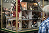 A Kentucky State Fair second place ribbon hangs from the highly detailed furnished dollhouse created by Wanda Wheatley. 8/18/19