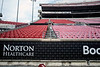 A $1.5 million dollar donation from Zappos.com to the University of Louisville will include funding to refurbish the faded lower bowl seats at Cardinal Stadium installed during its construction in 1998. Progress on the project could be seen near the endzone on Thursday afternoon. 8/22/19