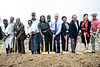 Louisville Urban League CEO Sadiqa Reynolds was joined by Louisville mayor Greg Fischer, US congressman John Yarmuth, Metro Council rep Barbara Sexton Smith  and several others at the planned site of the Louisville Urban League Sports and Learning Complex at 3029 W. Muhammad Ali Blvd on Tuesday afternoon for a groundbreaking ceremony. 8/27/19