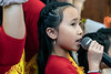 Lily Tran was one of the many singers from the Right View Group that took part in the opening ceremonies for the Buddha Blessed Temple on Sunday. 9/1/19