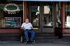 David Allgood has trouble finding wheelchair access to several places in the Highlands due to the centuries-old architecture and narrow sidewalks that define the neighborhood. 9/24/19