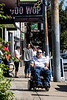 Highlands resident David Allgood navigates narrow sidewalks in an old neighborhood often encountering businesses that aren't up to code when it comes to compliance with the Americans with Disabilities Act of 1990. 9/5/19