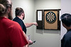 An ongoing game of darts is part of the regular activities for UofL offensive lineman during a dinner hosted by their coach Dwayne Ledford. 9/5/19