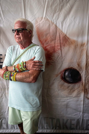 Tim McNally sells his handcrafted bracelets at Hometown Rising to benefit the Take Me Home Animal Rescue booth. 9/15/19