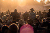 Fans at Hometown Rising get ready for the headliners as the sun sets on Saturday night. 9/14/19