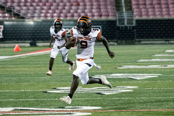Fern Creek's Herve Blode dashes to the endzone against Ballard for a touchdown. 9/20/19