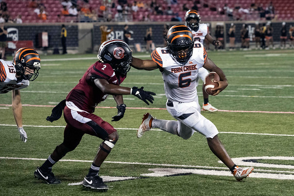 Fern Creek running back Terrance Mitchell rushed for a late touchdown against Ballard sealing the victory with a final score of 15-12 on Friday night. 9/20/19