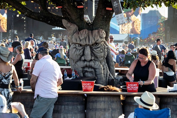 The Angry Orchard tree kept a stern watch over the customers at Bourbon & Beyond. 9/22/19