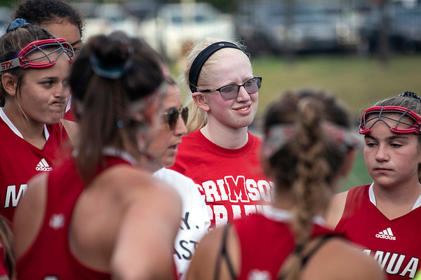 Despite her limited vision, Addison Evers has become a part of the duPont Manual field hockey team as its manager. 9/24/19