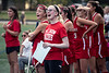 Field hockey manager Addison Evers cheers on her duPont Manual teammates against Sacred Heart. 9/24/19