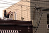 A crew works on a hot rooftop in Butchertown on Monday afternoon. 9/30/19