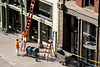 Workers along Whiskey Row endured the late afternoon sun with zero shade. 9/30/19