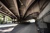 The looming overpasses of Old Louisville provide a dystopian setting for the homeless population seeking shelter from the harsh elements. 10/3/19
