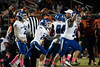 The Oldham County defense celebrated after recovering a fumble against Fern Creek on Friday night. 10/4/19