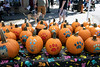 Pumpkins with paw prints were part of the scenery at the Metro Animal Services booth during the Louisville Halloween Parade & Festival on Saturday. 10/5/19