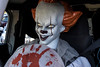 Pennywise the clown sat in the driver's seat of an It-inspired car at the Louisville Halloween Parade & Festival on Saturday. 10/5/19