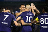 LouCity FC teammates celebrate after scoring a goal against the Tampa Rowdies on Saturday night on their way to a 2-1 victory and a spot in the USL Eastern Conference semifinals. 10/26/19