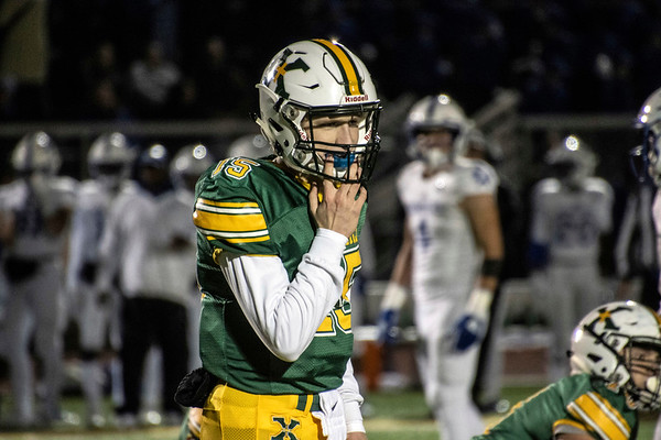 St. X quarterback Doug Bodhaine ran and passed his way into the endzone during a heroic second half comeback before losing to  Cincy St. X 35-30 on Friday night. 11/1/19