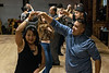 Dancers of various skill levels gather on the club floor at Hotel Louisville for a salsa dancing lesson from local instructor Chelsey Owen. 11/9/19