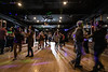 The lights are dimmed over the dance floor at Hotel Louisville on a Saturday night after attendees conclude a salsa lesson from Chelsey Owen. 11/9/19