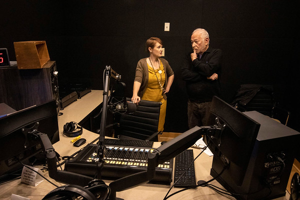 Barry Bernson visited the Louisville Public Media studios on a Thursday afternoon in November to record a book reading with producer Laura Ellis. 11/7/19