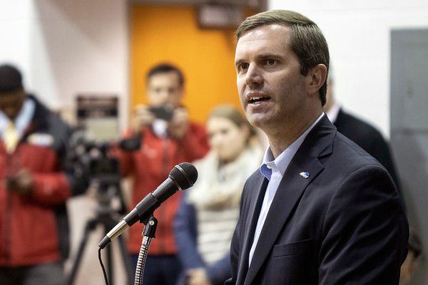 Kentucky governor-elect Andy Beshear was one of the featured speakers at the Bobby Ellis Memorial Vigil on Sunday night at Byck Elementary. 11/24/19