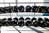 A rack of dumbbells wait to be used at the soon to open YMCA at 1720 West Broadway. 12/4/19