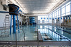 The pool at the West Broadway YMCA is divided into sections to accomodate both lap swimming and recreational family swimming. 12/4/19