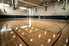 The gymnasium at the West Broadway YMCA provides a court for a number of sports and activities including permanent hash marks for local favorite pickleball. 12/4/19