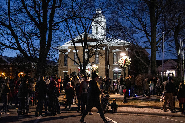 LaGrange residents gathered along historic Main Street near the Oldham County courthouse on Saturday night to see Santa flip the switch and light up the town in holiday colors. 12/7/19