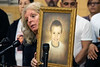 Catherine Milliner held a photo of her 4-year-old grandson Tony Hack during a rally on Sunday afternoon at the West Chestnut YMCA. Tony was beaten to death in 2010 by his mother's boyfriend and during what is now regarded as the most violent decade in the city's history for homicides. 12/29/19