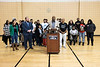 District executive director of the YMCA of Greater Louisville Freddie Brown spoke during a Sunday afternoon rally with the families of murder victims at the organization's West Chestnut Street location. 12/29/19