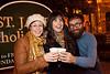 Alex Distler, Rachel King, and Zachery Ward raise a toast to the good life.