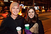 Reed Van Dyke and Holly Griffitt grabbed some coffee for the walk.
